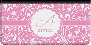 Floral Vine Genuine Leather Checkbook Cover (Personalized)