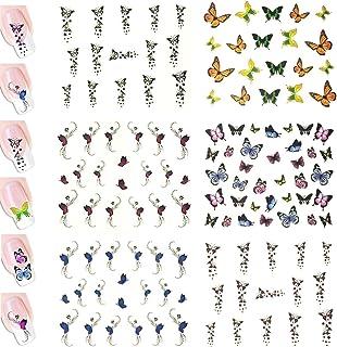 AllyDrew Butterflies Water Slide Nail Art Decals Water Transfer Nail Decals (100+ Butterfly Decals)