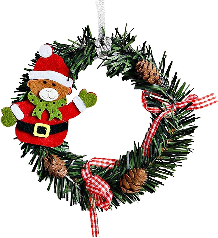 2021 Cheap bargain Christmas Ornaments Mini Decor Wreath Max 44% OFF Hanging Xm