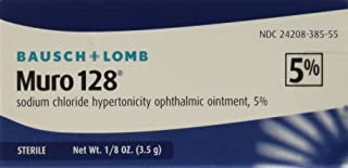 Bausch and Lomb Muro 128 5 Percent Ointment, 3.5 gm (Pack of 1)