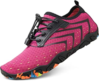 kealux Men Women Multifunctional Barefoot Quick-Dry Water Shoes Sports Sneakers