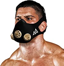 Training Mask - Workout Mask Chrome Series 2.0 for Cardio Endurance and Fitness Breathing Resistance Mask, Running Mask (Gold, Large)