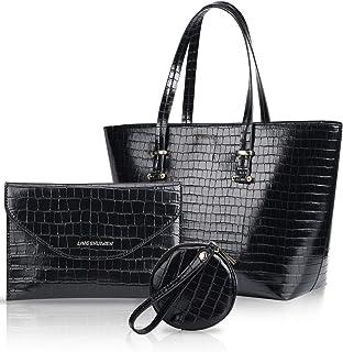 النساء أزياء حقائب الكتف حقيبة حمل أعلى مقبض حقيبة محفظة هوبو مجموعة 3 قطع