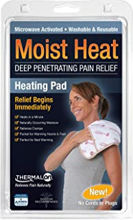 "Thermalon Microwave Activated Moist Heat Pad for Shoulder, Abdomen, Back, Hip, 9"" x 12"""