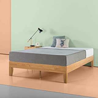 Zinus Moiz 14 Inch Deluxe Wood Platform Bed / No Box Spring Needed / Wood Slat Support / Natural Finish, Queen