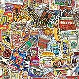HENJIA 75pcs Scherzo Cibo Divertente Design Creativo ricetta Adesivi Mano-Libro ricetta Fai da Te Adesivi Menu Fatti in casa
