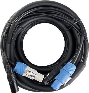 Pronomic Stage PPD-10 Hybrid Cable Power Plug/DMX PowerCon Compatible + DMX 3-pin, 10 m