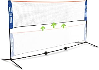 HIT MIT Adjustable Height Portable Badminton Net Set - Competition Multi Sport Indoor or Outdoor Net for Playing Picklebal...