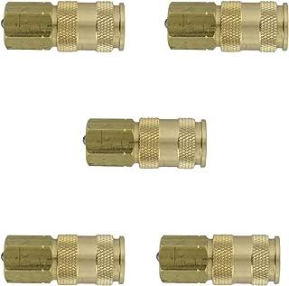 Milton Industries Inc. 764 HI-Flo V-Style' A,M,V-Feet 1/4-Inch Brass Body, 5 Pack