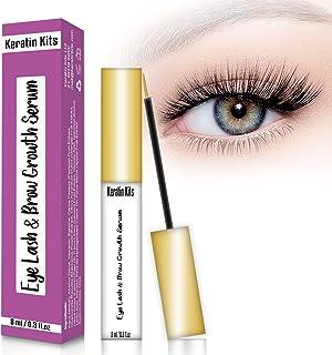 Keratin Kits Rapid Lash Eyelash & Brow Growth Serum, Natural Lash Enhancer (8ml), Nourish Damaged Lashes and Boost Rapid Growth