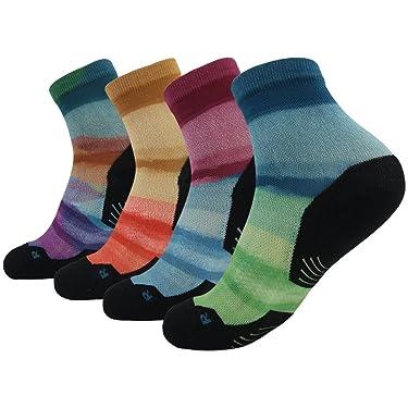 HUSO Unisex Digital Printed Athletic Quarter Running Socks 2,3,4,6,8,11 Pairs