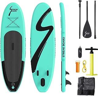 comprar comparacion streakboard Tabla Hinchable, Stand-up Paddle Surf de Sup, Grosor hasta 15cm,Cubierta Antideslizante, Incluida Mochila, Cor...