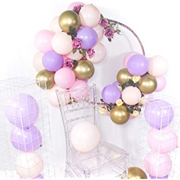 Sogorge Pink and Gold Balloons,112 Pieces Balloon Garland Kit Balloon Arch Garland for Wedding Birthday Party Decorations