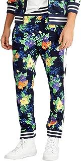 Men's Carribean Floral Tropical Print Jogger Active Pants