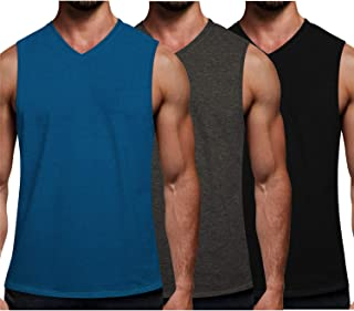 Men's 3 Pack Workout Tank Tops Gym Sleeveless Shirts V...