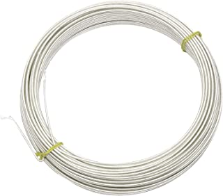 19g Rayon Covered Millinery Wire Standard Firm White - 20 Yards