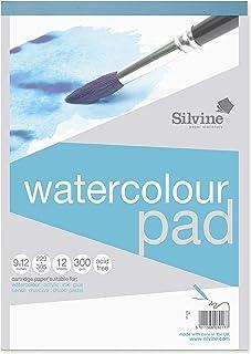 Silvine Bloc aquarelle A4+ 24 pages (12 feuilles) 300 g/m² papier texturé. Ref 491