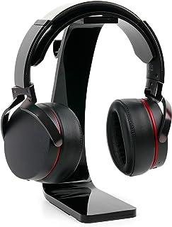 DURAGADGET Soporte para Auriculares Creative Sound Blaster X H7, EVO Wireless, EVO ZxR, EVO, Jam, Tactic3D Rage Wireless V2.0, WP-450 con recogecables. Color Negro