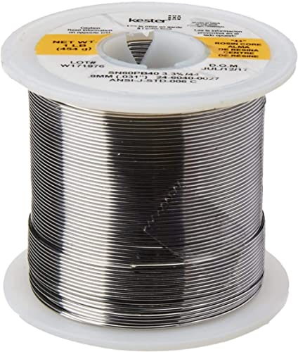 """KESTER SOLDER 24-6040-0027 Wire Solder, 0.031""""Dia, Pack of (1),32117 Limited edition"""