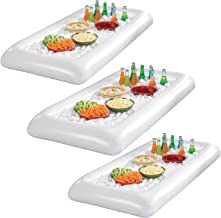 Sorbus Inflatable Serving Bar Salad with Drain Plug Ice Tray Food Drink Containers - BBQ Picnic Pool Party Supplies Buffet Luau Cooler (3 Salad Bars)