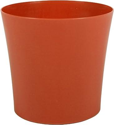Robert Allen Home & Garden PIM01164 Leland Plastic Pot, 6.5 inch, Tango
