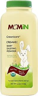 MOMiN USDA Organic Baby Dusting Powder, Talc-Free, with Calendula Extract & Vitamin E, 4.5 Oz