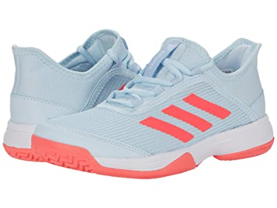 adidas Kids Adizero Club Tennis (Little Kid/Big Kid) (Sky Tint/Signal Pink/Footwear White) Kids Shoes