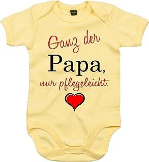 Mister Merchandise Mister Merchandise Baby Body Ganz der Papa, nur pflegeleicht. Strampler liebevoll bedruckt Gelb, 0-3