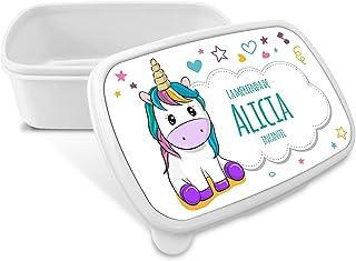 comprar comparacion LolaPix Caja Merienda Unicornio Vuelta al Cole Personalizada con Nombre/Curso. Varios Diseños a Elegir