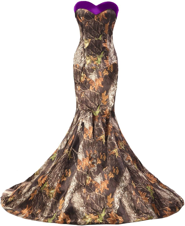 YINGJIABride Woman's Military NEW Party Camo Max 88% OFF Dress Mot Evening Dance