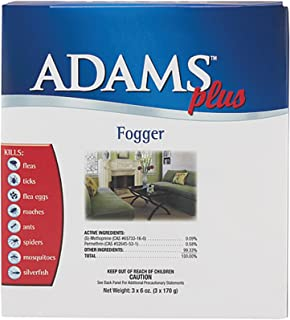 Adams Plus Room Fogger, 3-ounce Cans, Pack of 3