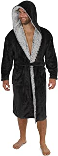 CityComfort Dressing Gowns for Men   Super Soft Luxury Hooded Dressing Gown in Grey or Navy   Men's Warm and Cozy Fleece N...