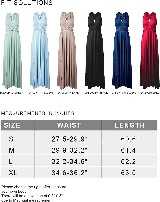 PERSUN Women's Convertible Multi Way Wrap Maxi Dress Long Party Grecian Dresses