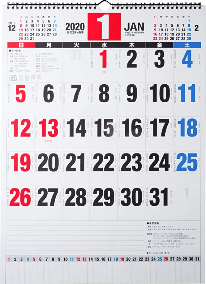 連邦磁器フォアマン高橋 2020年 カレンダー 壁掛け B3 E58