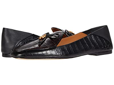 Tory Burch Tory Charm 5 mm Loafer (Cocoa/Perfect Black/Perfect Black/Perfect Black) Women