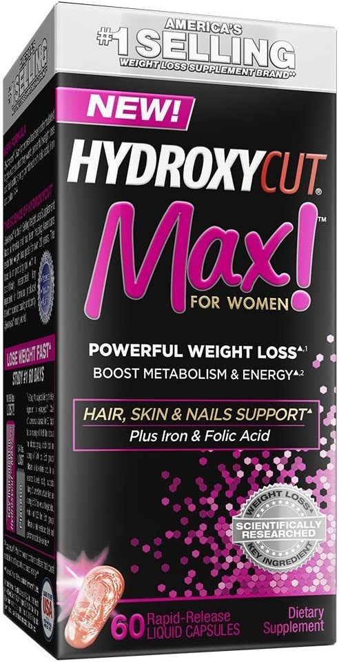 Hydroxycut Pro Clinical Max for Women - 60 Rapid Release Capsules (Pack of 1)