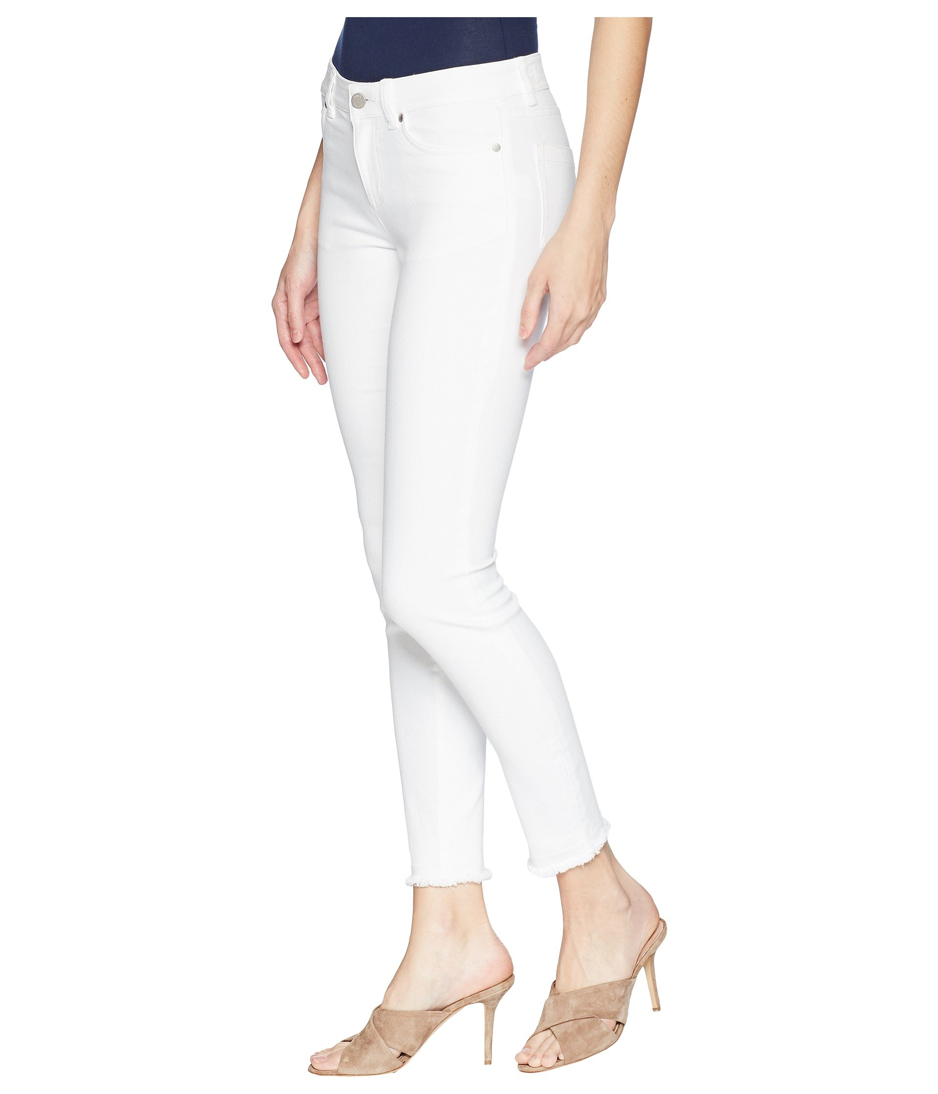 Two Five White Camuto Hem Vince Ultra Jeans Ankle In Frayed pocket By rwTrqS1