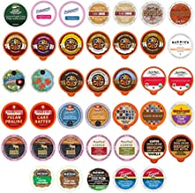 Crazy Cups Custom Variety Pack Flavored Coffee Single Serve Cups For Keurig Kcups Brewers, 40 count (Premium Sampler)