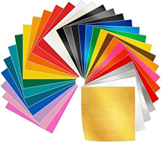 Adhesive Vinyl Sheets - 30 Pack 12'' X 12'' Premium Permanent Self Adhesive Vinyl Sheets-Assorted Colors for Craft Cutters,Printers,Letters,Decals