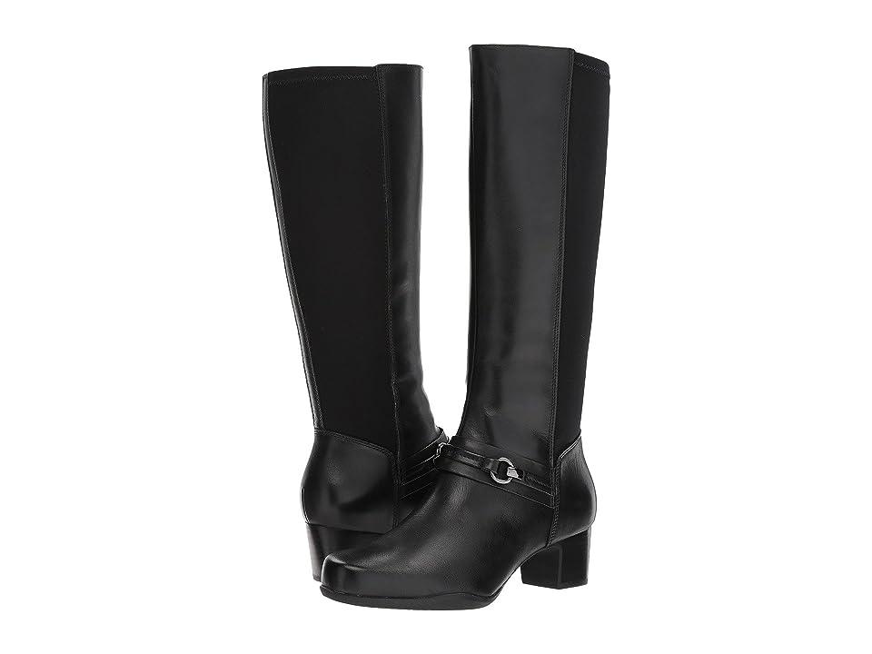 Clarks Rosalyn Clara (Black Combo) Women's Zip Boots