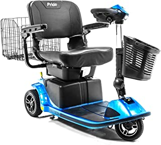 Revo 2.0 3-Wheel Pride Mobility Electric Scooter S66 + Challenger Folding Rear Basket