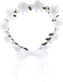 [THEFANTASY] THEFANTASY 花冠 珍珠 花丛 白 头礼服 发饰 胸花 婚礼 礼服花冠 fhkan017we fhkan017we