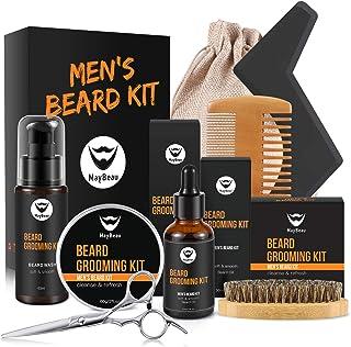 MayBeau Bartpflege Set für Männer Bart Styling Reinigung Kit mit Bartshampoo Bartwachs..