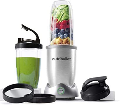 NutriBullet N12-1001 10pc Single Serve Blender, Includes Travel Cup, One Size, Gray