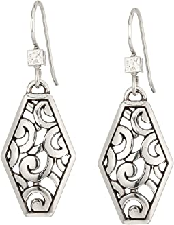 Brighton Deco Diamond French Wire Earrings