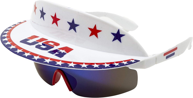 Funny Guy Mugs Polarized USA Visor Sunglasses - Merica - Premium 80s & 90s Retro Sunglasses : Clothing, Shoes & Jewelry