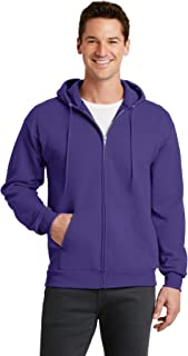 Port & Company-Core Fleece Full-Zip Hooded Sweatshirt. PC78ZH Purple