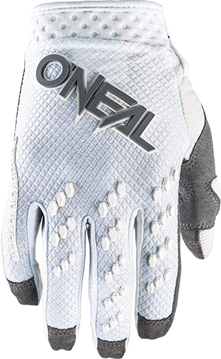 O Neal Cycling Motocross Gloves Mx Mtb Dh Fr Downhill Freeride Durable Flexible Materials Ventilated Back Of Hand Prodigy Glove Unisex Black White Grey Size
