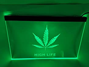 jxledsign Green high Life Bar Beer Pub Led neon Light Sign