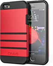 iPhone SE Case, iPhone 5s Case, Crave Strong Guard Protection Series Case for iPhone 5 5s SE - Red